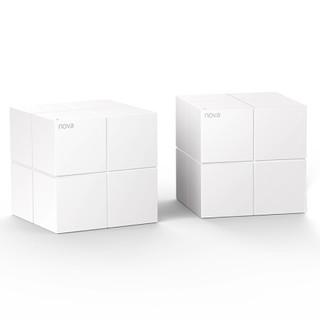 京东PLUS会员 : 腾达nova mw6 大户型分布式路由系统 双千兆无线路由器 智能双频穿墙 两只装
