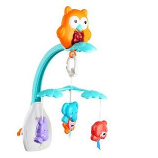 贝恩施(beiens)早教婴幼儿玩具 宝宝新生儿动物音乐旋转床挂床铃B507 *4件