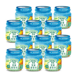 亨氏 (Heinz) 苹果香蕉泥 (辅食添加初期-36个月适用)113g*12瓶 *3件