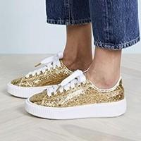 PUMA 彪马 Basket Platform Glitter 女款休闲运动鞋