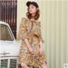 PEACEBIRD 太平鸟 AWFA73171 女士花卉图案连衣裙