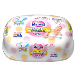 kao 花王 Merries 婴幼儿湿纸巾 54抽/盒 *4件
