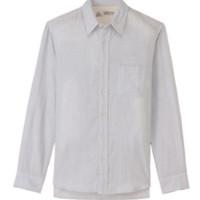 无印良品 MUJI 男式条纹衬衫