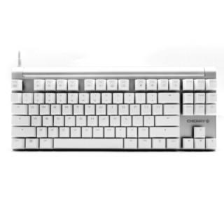 限宁夏 : 樱桃MX Board 8.0 G80-3880HSAEU-0 背光游戏机械键盘 白色青轴 绝地求生 吃鸡键盘