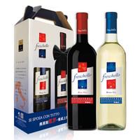 历史低价、京东PLUS会员:Freschello 弗莱斯凯罗 红+白葡萄酒 750ml*2瓶 礼盒装 *14件