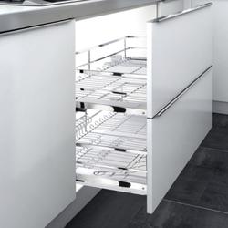 HIGOLD/悍高 拉篮黑钻 不锈钢厨房橱柜拉篮
