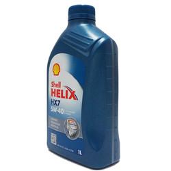 壳牌(Shell)合成机油 蓝喜力Helix HX7 5W-40 SN级 1L 半合成机油