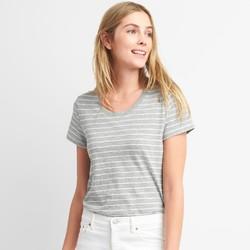 GAP 盖璞 女装纯棉条纹圆领短袖T恤
