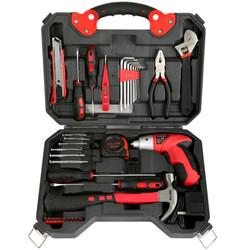 plus会员:赛拓家用电动螺丝刀套装46件套 4.8V电动工具箱套装0318