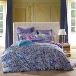 SAINTMARC罗莱出品 205纱支纯棉四件套 全棉床上用品床品套件床单被罩 琉璃之惑 220*240