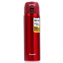 日本 孔雀peacock 品牌魔法瓶保温杯便携弹盖大容量保温杯AMW-55 红色