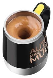 成琳 304不锈钢自动咖啡搅拌杯 新款创意礼品杯子不锈钢自动搅拌杯子 磁化水杯子养生杯电动搅拌杯 E款黑色
