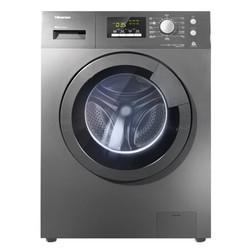 海信 8公斤 全自动变频滚筒洗衣机 95度除菌洗 零水压设计 羊毛洗 钛晶灰 XQG80-S1202FT
