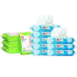 gb好孩子海洋水润婴儿卫生湿巾80片*8包+口手湿巾25片*4包 *5件
