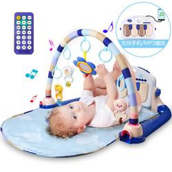 纽奇 婴幼儿早教益智玩具脚踏钢琴健身架充电电池双供电模式 蓝色