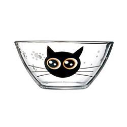 Luminarc 乐美雅 法国进口 钢化玻璃 趣味猫系列 玻璃碗饭碗面碗 14cm 2只装