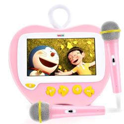 益米儿童故事机可充电下载 智能视频卡拉OK触屏早教机宝宝益智玩具 红色K6