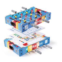 皇冠玩具 4合1多功能儿童球台玩具 家用益智球台 彩色桌上足球冰球 飞机棋象棋 267-4D