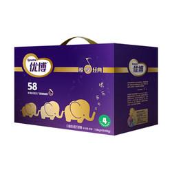 圣元奶粉 优博58幼儿配方奶粉4段 1600克 四连包