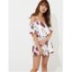 rienda glossy flower 女士甜美性感连体裙裤 8910日元(约¥524)