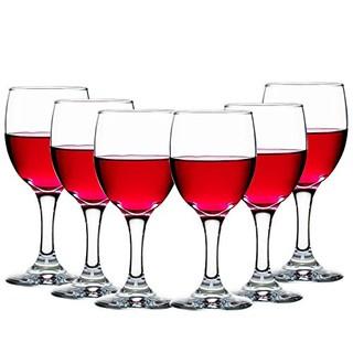 Libbey 利比 9942科珀葡萄酒杯295ml(6只)无铅水晶玻璃烈酒杯红酒杯高脚杯