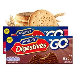 Mcvitie's 麦维他 巧克力粗粮消化饼干 199.8g*12盒