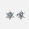 PANDORA 潘多拉 290590NBLMX 925银 蓝色密镶锆石雪花耳钉 329元