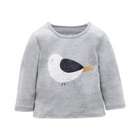 Purrfect diary 咕噜日记 0-6岁男女童秋装卡通胖墩小鸟纯棉长袖T恤