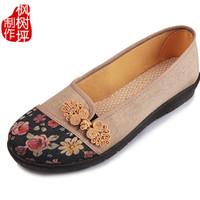老北京布鞋绣花鞋平底妈妈鞋