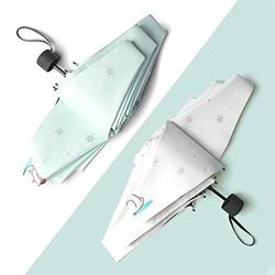 Yandex五折超轻防晒伞烫银雪花遮阳黑胶伞