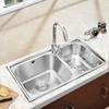 JOMOO九牧厨房水槽套餐 304不锈钢双槽洗菜盆水池水盆洗碗盆02094 599元