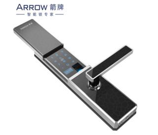 ARROW 箭牌 A628W 家用智能指纹锁 星辰黑(银框)+高敏光学指纹头