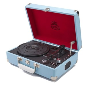 GPO Attache 复古公文包造型 黑胶唱片机