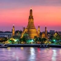 旅游尾单:泰国航空 上海直飞泰国曼谷7天往返含税机票