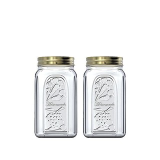 Pasabahce 帕莎 土耳其进口1000ml*2支欧式玻璃密封罐密封瓶茶叶罐储物罐奶粉罐家用