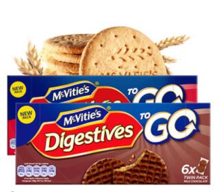 Mcvitie's 麦维他 巧克力粗粮消化饼干 原味全麦 200g*12盒