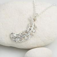 Lily charmed 奇迹羽毛造型 925银项链