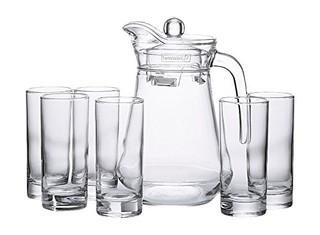 Luminarc 乐美雅 BROC水具 鸭嘴壶1.3L+直身水杯220ML*6只 套装7件套