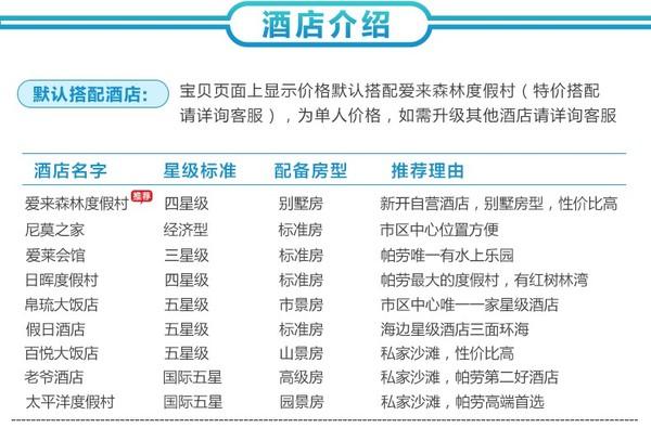 香港/澳门-帕劳5-6天自由行 免签海岛 还能无须港澳通行证游港澳
