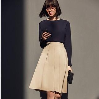 UNIQLO 优衣库 407884 女士高腰打褶半身裙