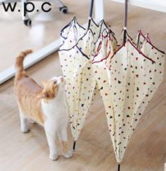 日本wpc人气个性小清新雨伞条纹小花可爱女士长柄晴雨伞潮流学生
