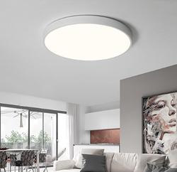 HD LED吸顶灯 北欧现代简约客厅灯青春版马卡龙系列 三色调光 简约白 24W *2件
