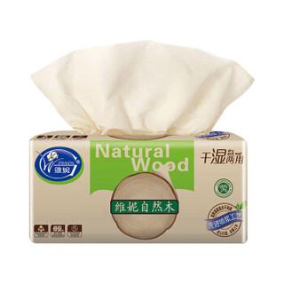 维妮(Winnin)本色抽纸 原生自然木浆纸 单包4层100抽 *2件