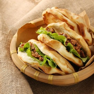 网易味央 黑猪  石烤馍夹腊汁肉(6组) 420g+300g