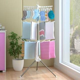 宝优妮 阳台可旋转婴儿衣架 三层大容量晾衣架 DQ0973-2 *2件+凑单品