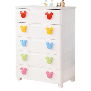 爱丽思IRIS 迪士尼密闭收纳柜 抽屉柜 整理柜 储物柜 衣柜MMG725白/黄 +凑单品
