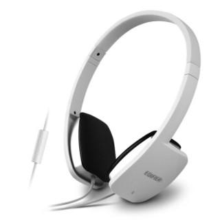 漫步者(EDIFIER)H640P 兼容性强的手机耳机 头戴式耳机 可通话 时尚白