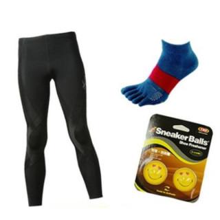 CW-X Generator 压缩裤+Tabio 五趾运动袜+跑鞋除臭球 3件套福袋