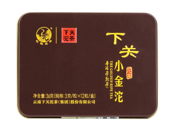 下关沱茶 铁盒装 2016年 迷你小金沱 3g*12粒/盒
