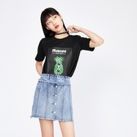 PEACEBIRD 太平鸟 AWDA82171 女士印花T恤